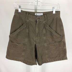 Columbia Womens Shorts Cargo Size 8 Ins 6 Brown